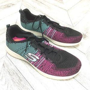 Skechers   Black Burst Ellipse Sneakers Size 11
